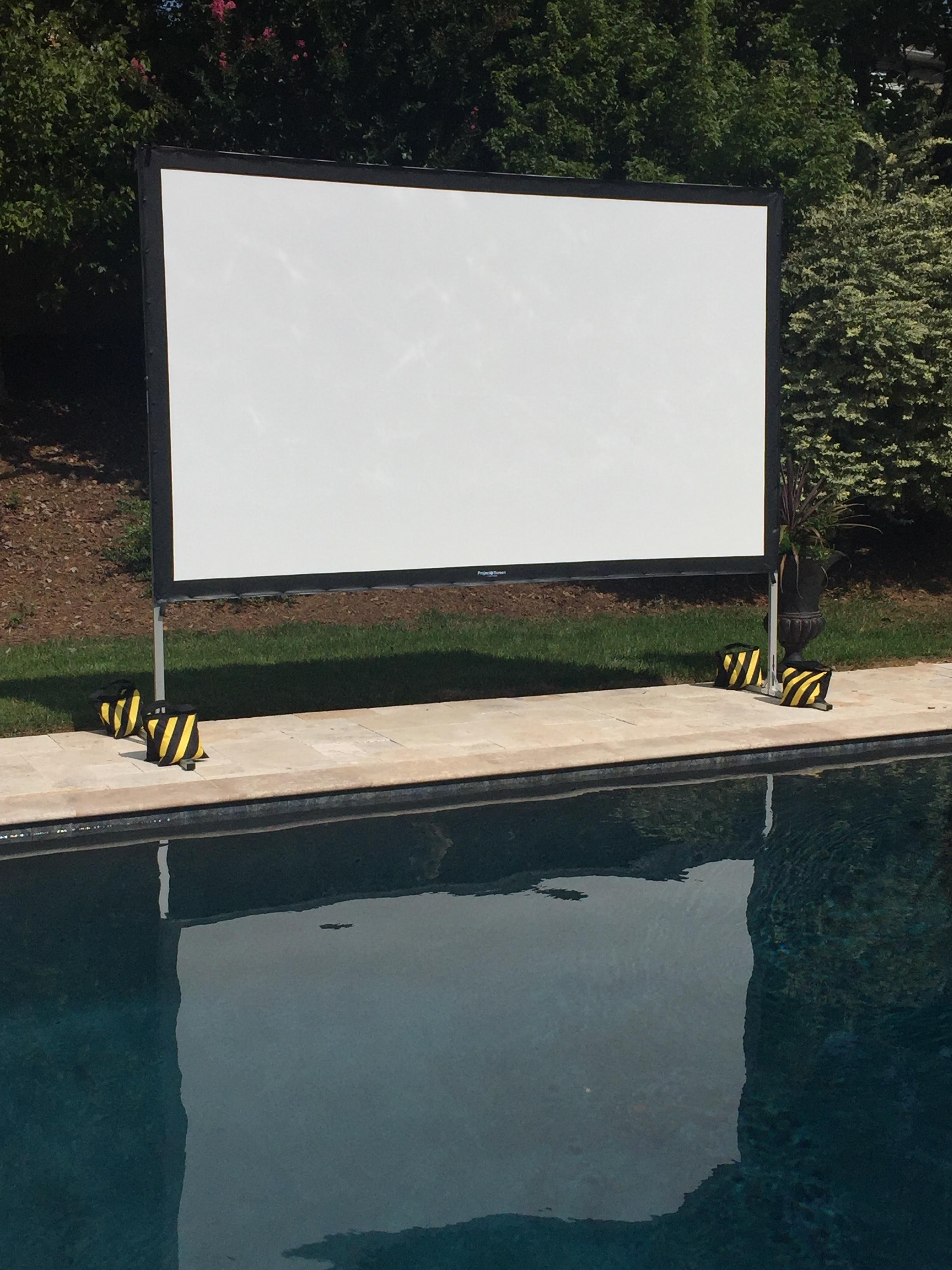 projector screen movie night rental in charlotte nc