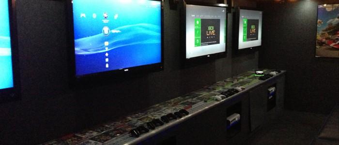 Four HUGE Hi-Def Screens Inside...